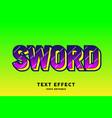 pink dark on green pop art text style effect vector image vector image