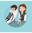Psychologist having session with patient vector image vector image