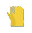 rubber gloves icon in cartoon style isolated on vector image