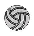 scribble volley ball cartoon vector image vector image
