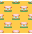 Seamless Smaii Shop Pattern Store Background vector image vector image