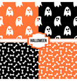 Set collection of halloween seamless patterns vector image vector image