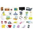 Set of household appliances and electronic devices vector image