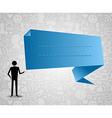 social media speech bubble vector image vector image