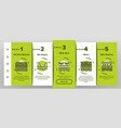 soil ground research onboarding icons set vector image vector image