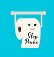 stop panic calligraphy hand lettering on cute vector image vector image