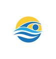 swimming sport icon design vector image