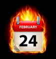 Twenty-fourth february in calendar burning icon
