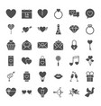 valentine day solid web icons vector image