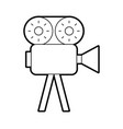 video camera isolated icon vector image vector image