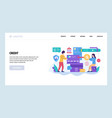 web site design template credit card and vector image