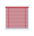 Window jalousie shutter background curtain blinds vector image