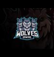 wolves mascot sport logo design vector image vector image