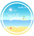 tropical beach sun vector image