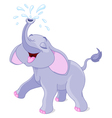 Sprinkling baby elephant vector image