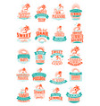 summer holidays or vacation trip icons vector image