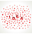 Idea word with in alphabets vector image