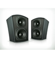 Acoustic speakers in plane wooden body vector image vector image