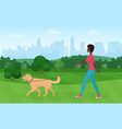 african american black woman walking with golden vector image