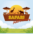 african safari adventure sign vector image vector image