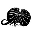 angry black lizard vector image vector image