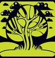 Art fairy of tree growing on beautiful meadow styl vector image vector image