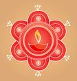 artistic diwali diya background vector image vector image