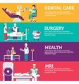 Banners set of clinic dental surgery health care
