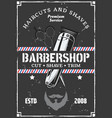 barbershop hairclipper beard and scissors vector image vector image
