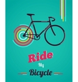 Bicycle vintage style poster vector image vector image