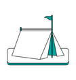 camping tent in grass vector image vector image