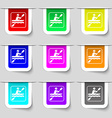 canoeing icon sign Set of multicolored modern vector image