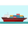 Cargo Ship Containers Shipping vector image