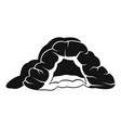 cave icon simple style vector image vector image