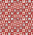 Christmas design icons set backgroundSeamless vector image vector image