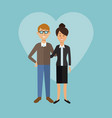 color background with heart shape of full body vector image vector image