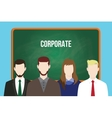 corporate team business stand vector image vector image