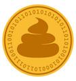crap digital coin vector image vector image