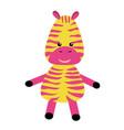 cute little zebra print cartoon boar animal vector image