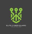 cyber guard logo concept vector image