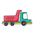 dump truck industry and contruccion vehicle vector image