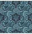 Ethnic handmade decorative blue seamless pattern vector image
