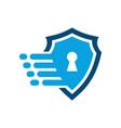 fast guard lock shield logo icon vector image vector image