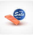 fillet of salmon isolated on white background vector image vector image