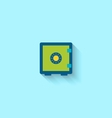 flat icon closed safe vector image