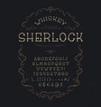 font whiskey from sherlock vector image vector image