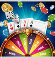 fortune wheel design realistic 3d object vector image vector image