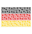 germany flag mosaic of space ship icons vector image