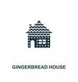 gingerbread house icon premium style design from vector image vector image