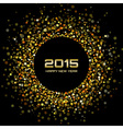 Gold Bright New Year 2015 Background vector image vector image